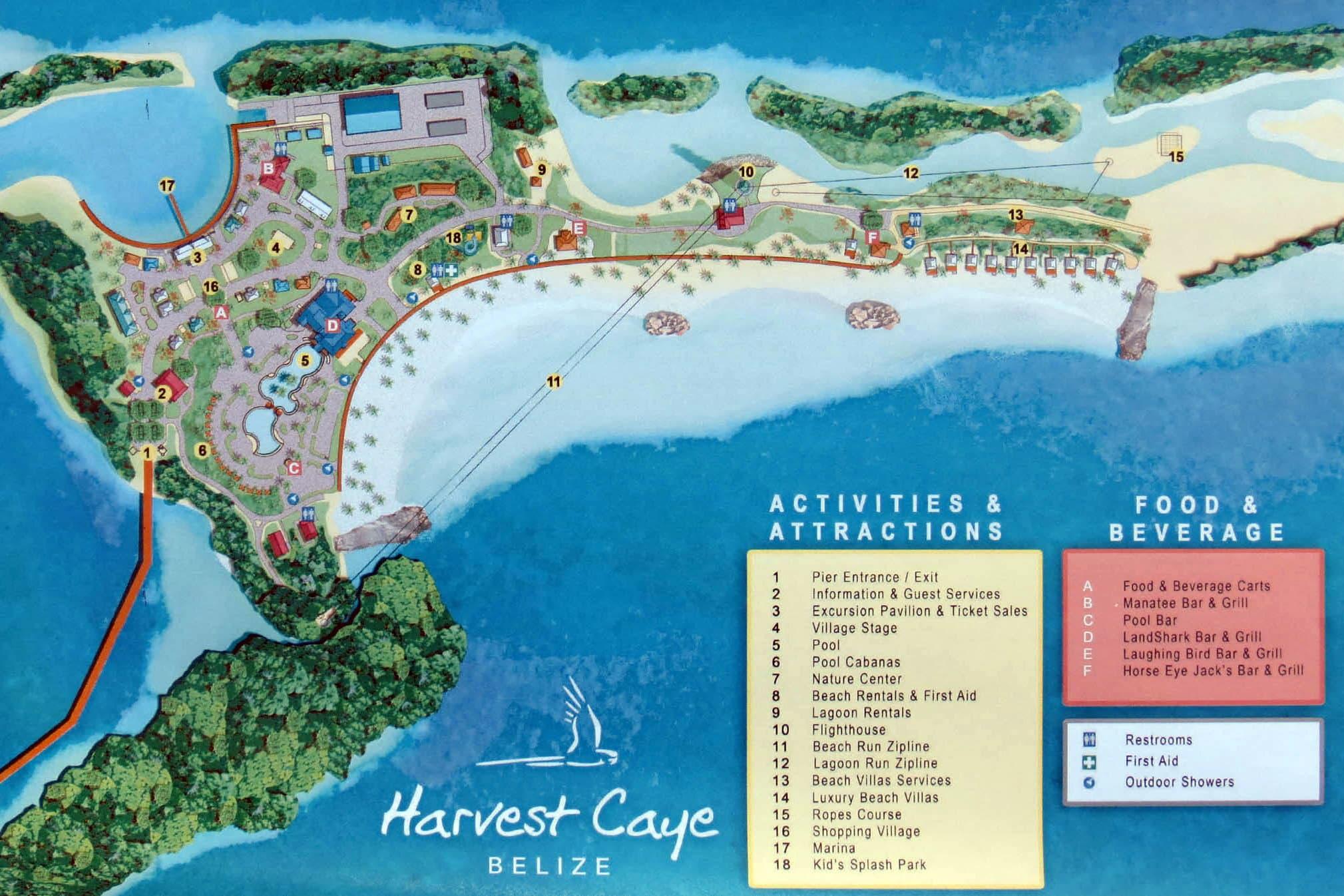Круизный порт Харвест Кей / Harvest Caye