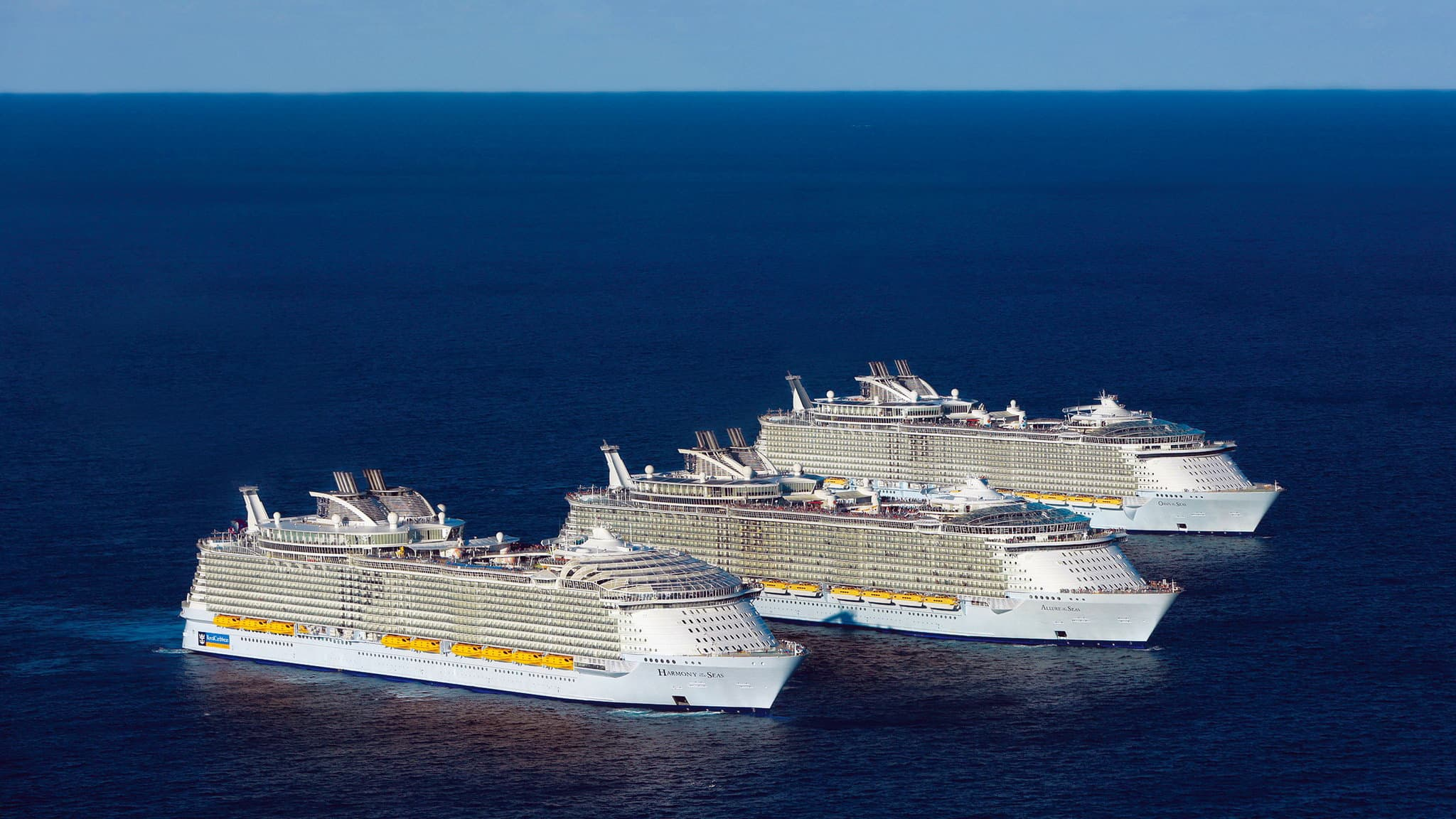 three most big cruise ships